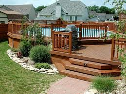 Inground Pool Patio Designs Build Design Above Deck Design Ideas Above Ground Pools Pool Kits