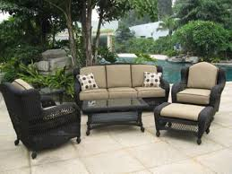 Black Wicker Patio Furniture - pvc wicker outdoor furniture fleur de lis outdoor furniture black