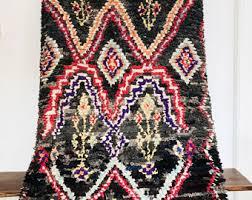 Mauve Runner Rug Vintage Wool Runner Etsy
