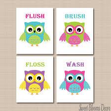 Owl Theme by Amazon Com Owl Bathroom Décor Owl Bathroom Wall Art Owl Wall Art