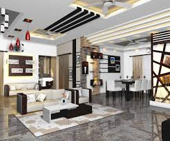 Contemporary House Plans Interior Model Living And Dining From Kerala Model Home Plans