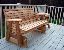 How To Build Patio Bench Seating Cedar Countryside Rocking Glider With Awesome Design And Patio