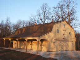 Barn Style Garages Metal Barn Style House With Gambrel Style Roof To Provide More