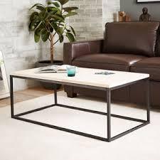 White Wash Coffee Table - west elm box frame coffee table whitewashed mango polyvore