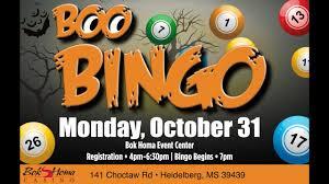 boo bingo at bok homa casino halloween night youtube