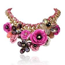resin statement necklace images Rosy pink necklaces pendants hot sale transparent buycoolprice jpg
