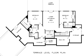 Ranch Floor Plans With Basement Bentwater House Plan Blueprints Architecural Drawings Home