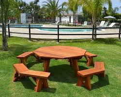 Free Large Octagon Picnic Table Plans by Octagon Picnic Table Wood Picnic Table With Attached Bench