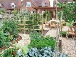 architecture adorable vegetable garden with log fence and log