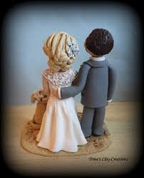 wedding cake topper beach theme custom cake topper bride and