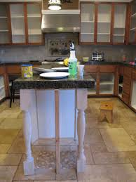 kitchen island table legs how to add legs to your kitchen island
