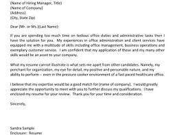 cover letter with no address