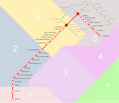 dubai metro red line stations route map