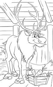 my family fun frozen sven reindeer coloring page the best friend