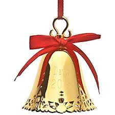 silver plated bell ornament home kitchen