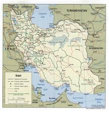 Iran On World Map Landkarten Iran Wissen De