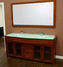 Waterfall Double Sink Bathroom Vanity Set - Bathroom vanities double sink wood