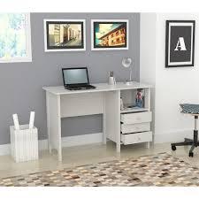 inval computer desk with hutch inval laricina white modern straight desk 194 office pinterest