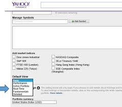 Yahoo Finance Tracking Your Portfolio On Yahoo Finance Investopedia