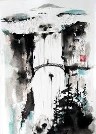 Seeking Painting Seeking The Valley Spontaneous Xie Yi Style Brush