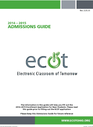 ecot help desk chat admissions guide rev pdf