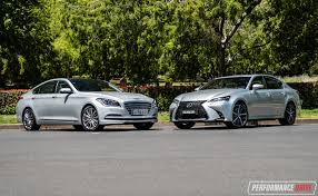 lexus used car australia 2016 hyundai genesis vs lexus gs 350 v6 luxury car comparison