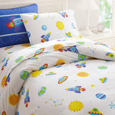 Boys Duvet Covers Twin Galaxy Outer Space Blue Bedding Twin Comforter Set Cotton