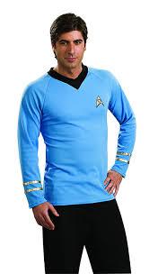 Halloween Shirts For Ladies Amazon Com Star Trek Classic Deluxe Shirt Costume Clothing