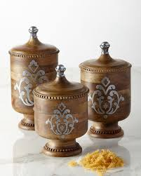 buy gg canisters sealed canisters canisters sets glass gg collection heritage wood metal inlay canister set