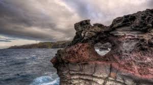 rocky shore wallpapers heart shaped portal in a rugged rocky shore hdr beaches u0026 nature
