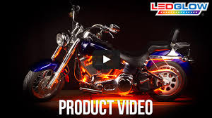 classic orange led motorcycle accent light kit