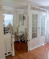 Kids Room Dividers Ikea by Reclaimed White Stained Wooden Old Door As Room Divider With 12