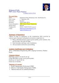 Best Resume Format Word File by M Fathy Cv