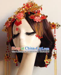 asian classical wedding hair accessories fascinators hair