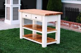 ana white double kitchen island with butcher block top diy amazing