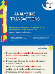 pp for chapter 2 analyzing transactions debits and credits