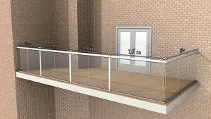 glass balustrade maximum post spacing