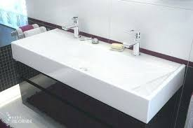 trough sink with 2 faucets extraordinary trough sink with 2 faucet bathroom sinks luxury