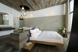 chambre adulte en bois massif design interieur table chevet bois massif lit flottant suite