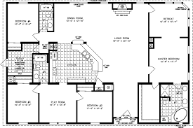 5 bedroom mobile homes floor plans four bedroom mobile homes l 4 bedroom floor plans