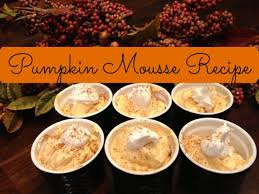 easy gluten free thanksgiving dessert pumpkin mousse recipe