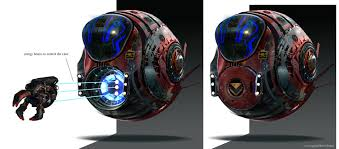 guardians of the galaxy space pod concept art