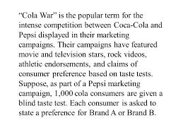 Pepsi Blind Taste Test Created By Tom Wegleitner Centreville Virginia Ppt