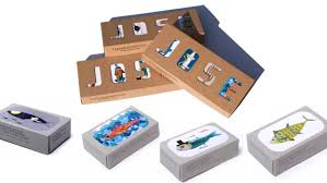Artistic Features Food Packaging Showcases Fish And Seafood