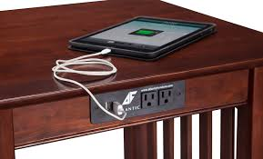 chairside table with charging station end table with charging station renowned end table with charging