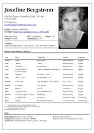 Sample Audition Resume by Sample Of Acting Resume Uxhandy Com