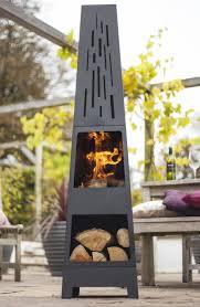small patio heater la hacienda oxford contemporary steel 150cm chiminea patio heater