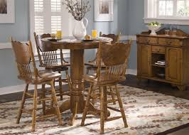 nostalgia round pub table 3 piece dining set with 24 inch press