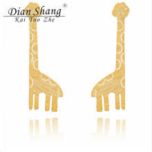 giraffe earrings popular gold giraffe earrings buy cheap gold giraffe earrings lots