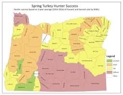 Map Of Central Oregon by Odfw Spring Turkey Hunting Forecast